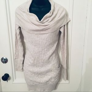 Calvin Klein Cowl Neck Sweater Dress with Pockets